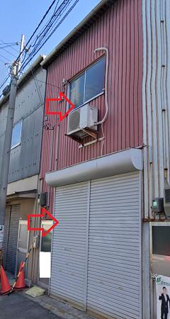 大阪市西成区北津守の貸事務所