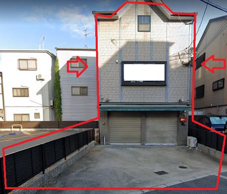東大阪市中野の貸事務所
